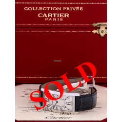 Cartier Platinum Tank cintrée, collection privée, 50 ex, full set