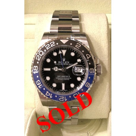 Rolex GMT - Batman - Master II Ref. 116710 BLNR New