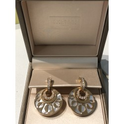 Bvlgari, Boucles d'oreilles Intarsio Or Rose Diamants