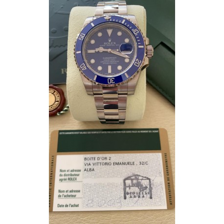 Rolex Submariner Date 116619LB NEW 2009 FULL SET with sticker