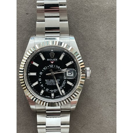 Rolex Sky-Dweller Reference 326934 black dial full set year 2019