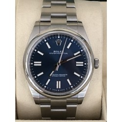Rolex Oyster Perpetual 41 Ref. 124300 full set 2021 blue dial