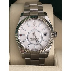 Rolex Sky-Dweller Reference 326934 white dial full set year 2017