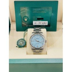 Rolex Oyster Perpetual 41 Ref. 124300 NEW full set 2021 coral dial